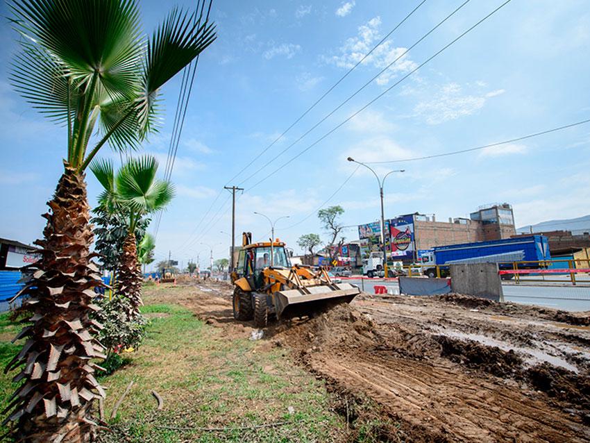 Obras menores en Panamericana Norte